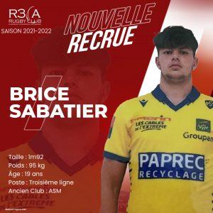 Read more about the article Bienvenue à Brice Sabatier