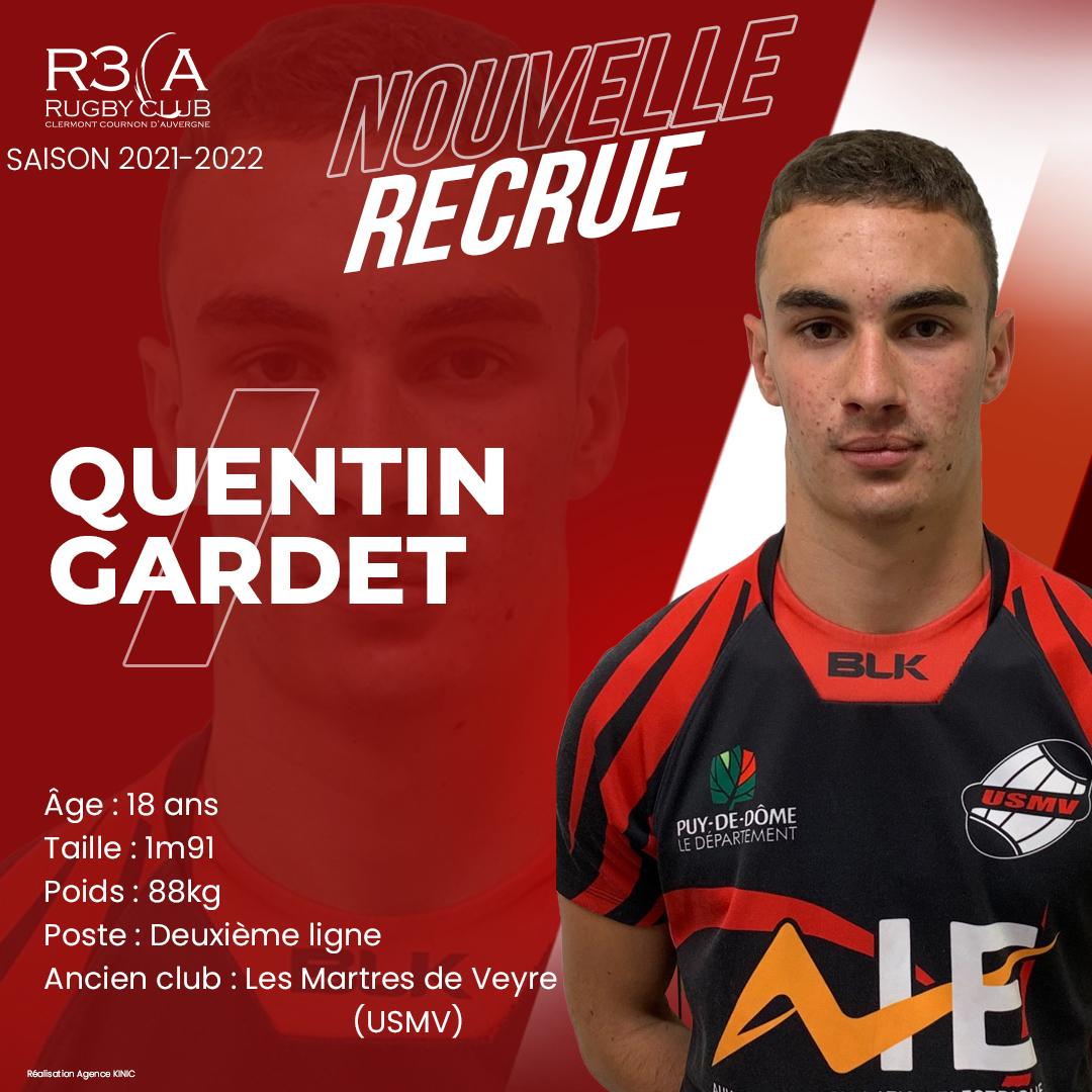 Read more about the article Bienvenue à Quentin Gardet