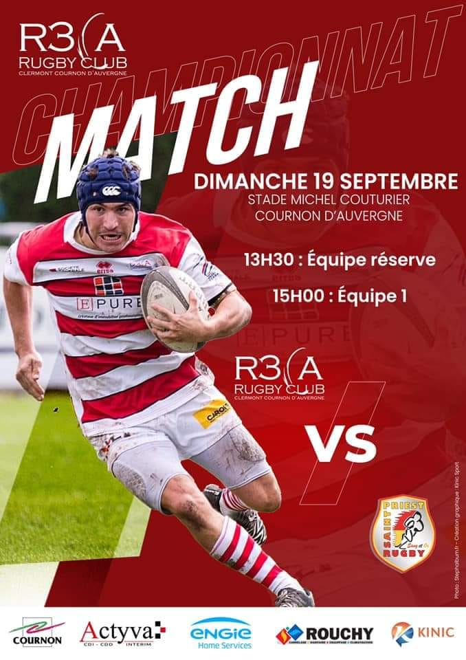 You are currently viewing Séniors (2ème J) : R3CA/Saint-Priest Rugby