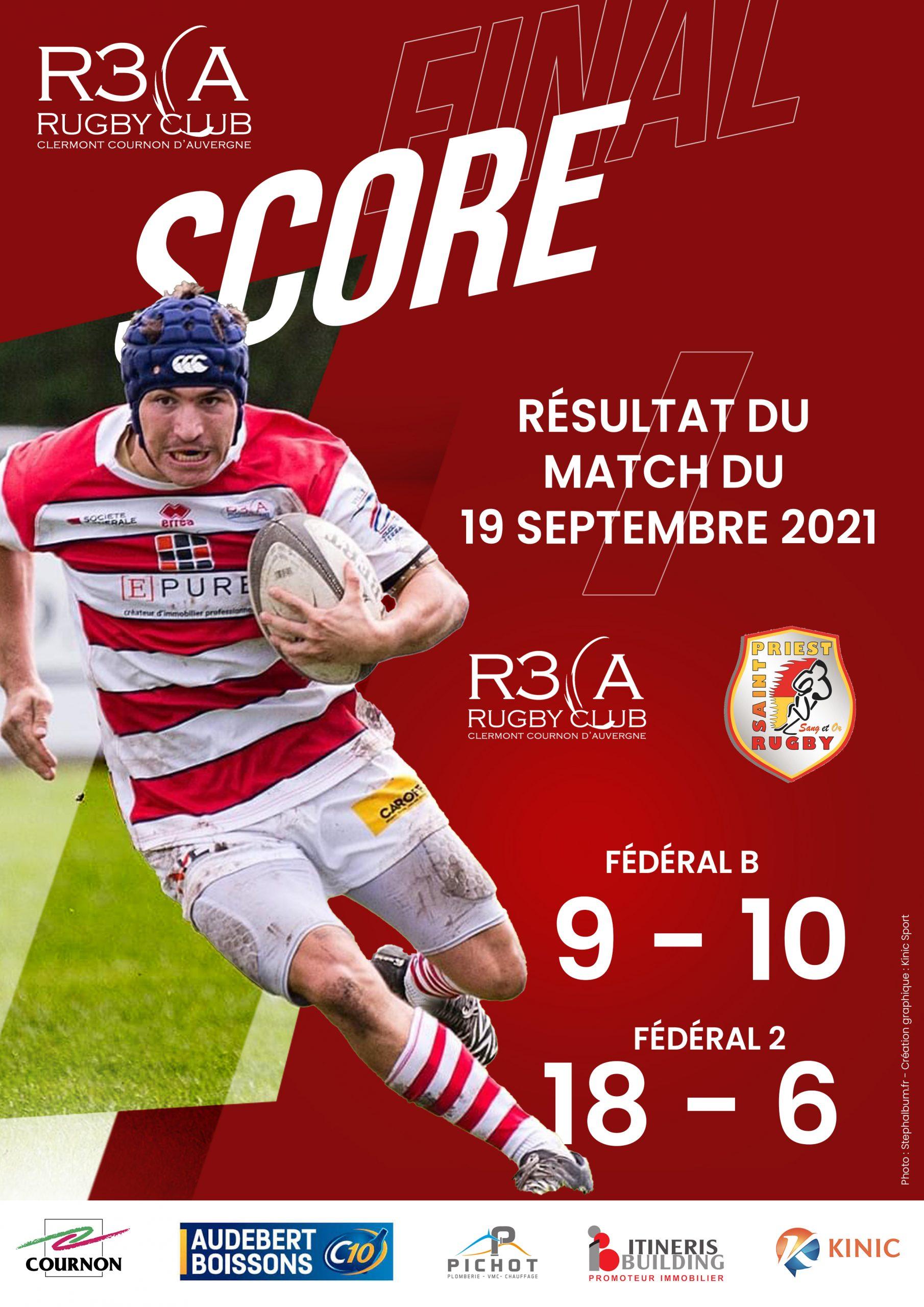 You are currently viewing Séniors (2ème J) : R3CA/Saint-Priest, résultats