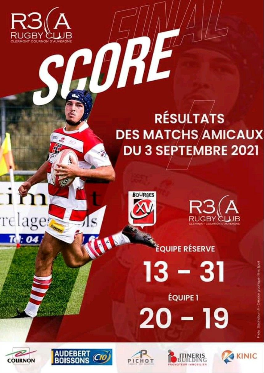 Read more about the article Match amical : R3CA 19-20 Bourges XV
